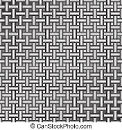 Metal Grate - Metal Grid of Wires or Pipes Vector...