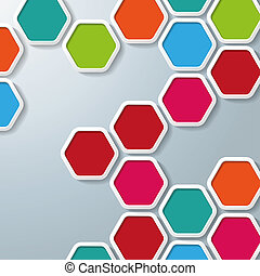 Several Colored Hexagons