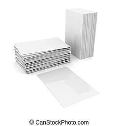 layout of books isolated on a white background