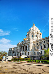 Minnesota state capitol building in St. Paul, MN