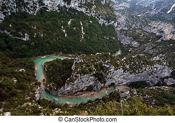 Verdon Gorge - view at the canyon
