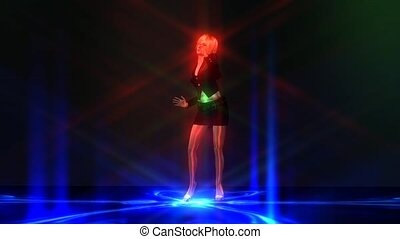 Animation of a dancing Girl
