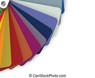 blue tones on a color pallet. illustration design