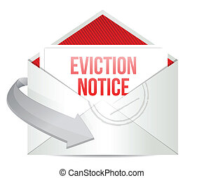 eviction notice mail or email illustration design over white