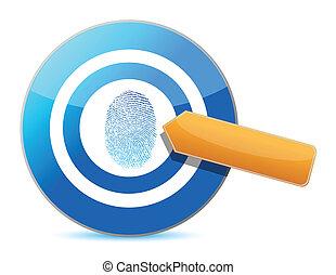 target and fingerprint illustration design