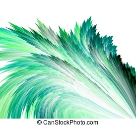 Feathering Outward Abstract - Abstract Background - Flowing,...