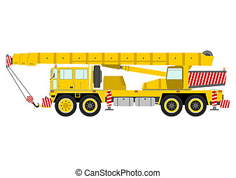 Crane - Yellow mobile crane