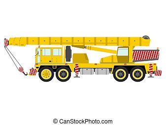 Crane - Yellow mobile crane