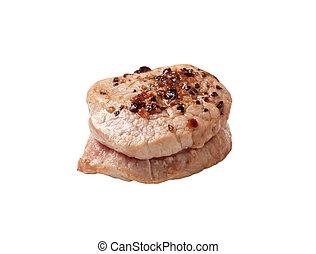 Pan roasted pork tenderloin medallion