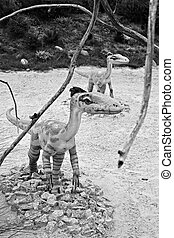 Celophysis. Model of dinosaur. - Celophysis, classification...
