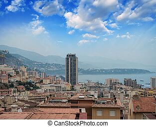 Monaco - Montecarlo, France - Spectacular panoramic city...