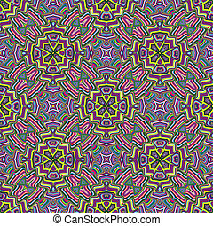 Modern Indian pattern - Geometric Ornaments with spiritual...