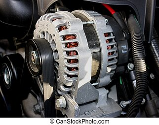 Alternator - An Alternator used to power the electrical...