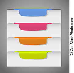 Stickers on the edge of the  page vector illustration