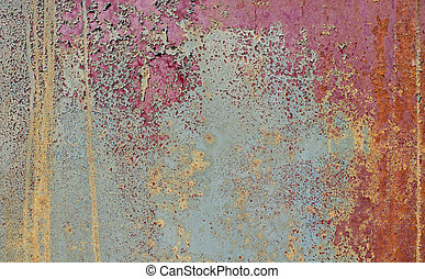 etched paint - weathered peeling paint
