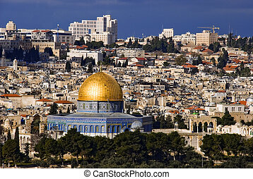The holy city Jerusalem from Israel
