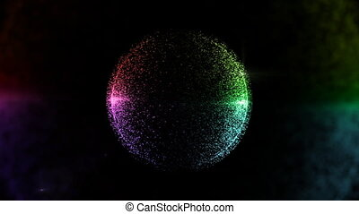 circle particle background