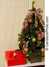 Christmas Tree and Red Gift