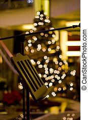 Music Stand at Christmas - A music stand in front of a...