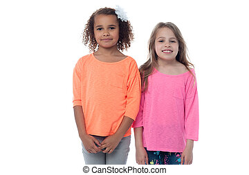 Pretty attractive little girls - Two pretty young girls...