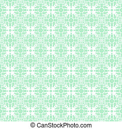Simple lace pattern with white shapes on turquoise - Simple...