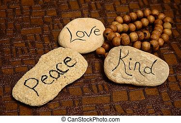 paz, amor, amabilidad