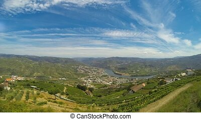 Timelapse in Douro Valley - Timelapse of terraced vineyards...
