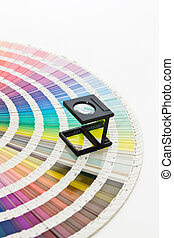 pantone colors 2 - pantone swatch and magnifying glass