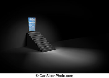 Stairway to heaven - Dark room and stairway to heaven