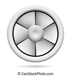 Electric fan - Electric plastic fan. Illustration on white...