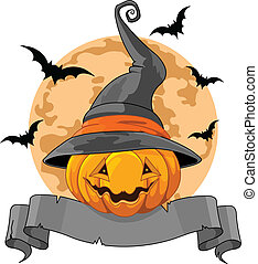 Halloween Pumpkin Design - Halloween Design with Pumpkin...