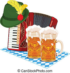 Oktoberfest design - Oktoberfest design with accordion, beer...