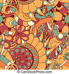 Floral mechanism seamless vector - Floral mechanism...
