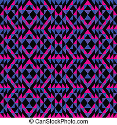 Purple Pink and Blue Pattern