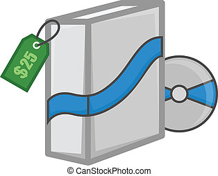 Software Box with CD and Price Tag