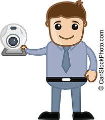 Web Cam - Business Cartoons - Drawing Art of Cartoon Young...