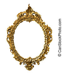 Art Nouveau gold Mirror Frame