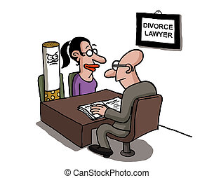 A woman is divorcing a cigarette - A woman is divorcing...
