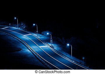 clean road at night