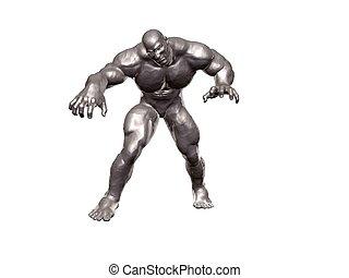 Hercules Metallic - Heavily muscles metallic hercules...