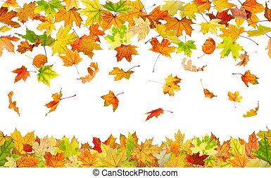 Seamless autumn leaves - Seamless pattern of falling autumn...