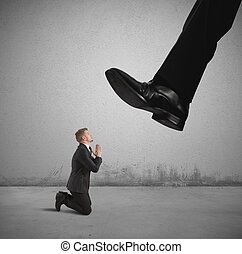 Fired by the boss - Concept of businessman fired by the boss
