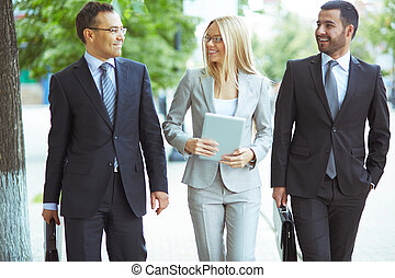 Friendly business team - Image of friendly business team...