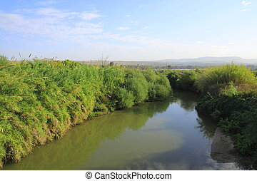 The Jordan River north of Lake Kinneret