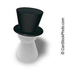 topper - play figure with topper on white background - 3d...