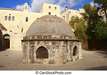 The Holy Sepulcher - The old city of Jerusalem with the Holy...