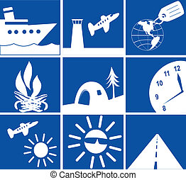 Travel Icons - Various iconspictures with a travel theme