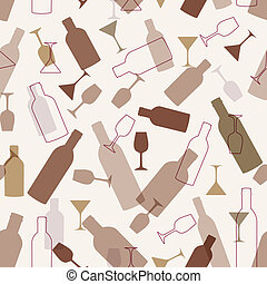 Restaurant or wine bar menu design. Seamless vector...