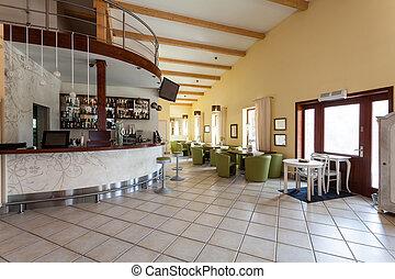 Mediterranean interior - cafe and bar - Mediterranean...