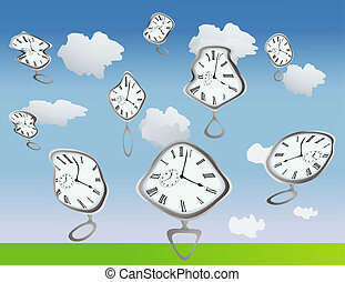 Warped Time - Clocks getting warped by, well, they are just...